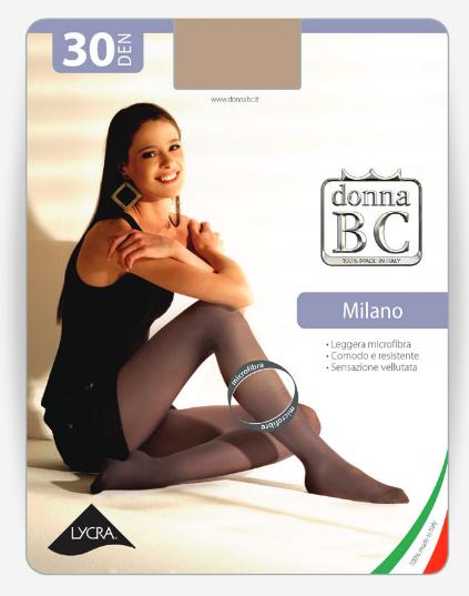 Donna BC Rajstopy Mikrofibra Milano 30dn